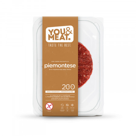 Burger piemontese you & meat 200g