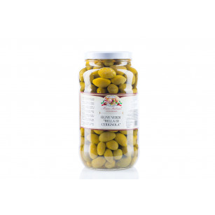 "Green olives ""la bella di cerignola"" in brine 2,9 kg"